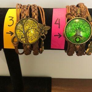 Vegan Infinity Butterflies Love Bracelet Earrings